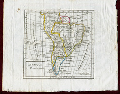 AMERIQUE MERIDIONALE  : LITHOGRAPHIE ANCIENNE - Geographical Maps