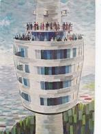 Fernsehturm Stuttgart Novelty Opening Postcard Stuttgart 1967 Postmark With Slogan Used Good Condition - Paintings