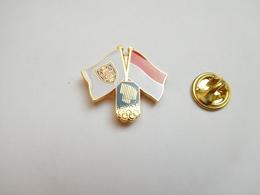 Superbe Pin's , JO , Jeux Olympiques De Lillehammer , Drapeaux - Jeux Olympiques