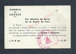 CARTE PERMIS DE CHASSE TAMPON RUCHE ABEILLES LE P D M LE S O : - Cartes