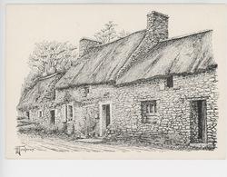 Chaumièe Du Finistère - H. Touleron Illustrateur (dessin Gravure) - Autres Communes
