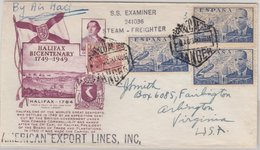 Spanien - 3x1 Pts. Cierva U.a., Lupo-Brief N. USA, Tanger - Arlington 1950 - Espagne