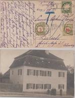 Bayern - Wallerstein 1909, Priv. Fotokarte I.d. SCHWEIZ Nachporto N. Zürich - Bavière