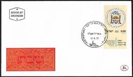 1977 - ISRAEL - FDC + Michel 699 [Sjabbat] + JERUSALEM - FDC