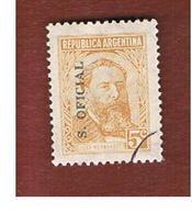 ARGENTINA -  O896 OFFICIAL STAMPS   -  1955  J. HERNANDEZ (OVERPRINTED) -    USED ° - Servizio