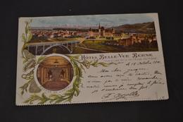 Carte Postale 1901  Suisse Bern Hôtel Belle Vue - BE Berne