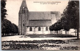 45 BAZOCHES LES GALLERANDES - Vue De La Place De L'église. - France