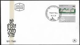 1977 - ISRAEL - FDC + Michel 700 [Tel Nof] + JERUSALEM - FDC