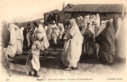 ALGERIE - ALGER FETE DE NEGRES GROUPE DE MAURESQUES - Alger