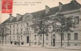 75 Paris Ecole Des Arts Et Metiers Boulevard De L' Hopital , Carte écrite En 1915 - Arrondissement: 03
