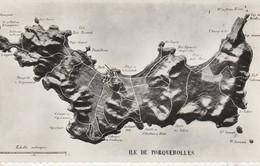 83 - PORQUEROLLES - Carte Géographique - Porquerolles