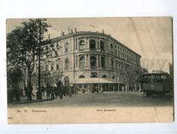 248688 POLAND WARSZAWA Hotel Europe TRAM 1909 Year RPPC - Polonia