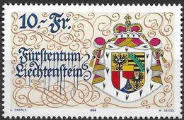 1996 Liechtenstein   Mi. 1136 **MNH 75 Jahre Neue Verfassung - Neufs