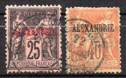 Col 14 /  Alexandrie  N° 11 & 13 Oblitéré  Cote   20,50 € - Usati