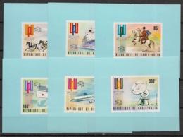 Haute Volta - 1974 - N°Yv. 323 à 325 + PA 174 à 176 - UPU - 6 Mini Sheets - Neuf Luxe ** / MNH / Postfrisch - UPU (Union Postale Universelle)