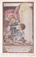 St Pauls Plumstead Sunday School Second Birthday Card Postcard Used Good Condition - Paintings