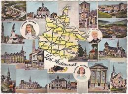 08 - Les Ardennes / Carte Géographique Et Multi-vues / 1963 - France