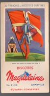 Granville (50 Manche) Buvard BISCOTTES MAGDELEINE  Drapeaux N°1  Louis XI   (PPP18075) - Zwieback