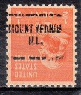 USA Precancel Vorausentwertung Preo, Locals Illinois, Mount Vernon 704 - Vereinigte Staaten