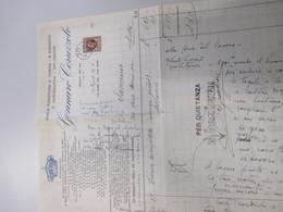1937 Reale Fornitura R.Marina R.Esercito R.AEREONAUTICA CORUZZOLO Napoli Fattura Marca Bollo - Italia