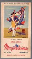 Granville (50 Manche) Buvard BISCOTTES MAGDELEINE  Drapeaux N°5 Révolution  (PPP18078) - Zwieback