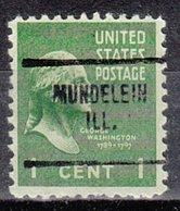 USA Precancel Vorausentwertung Preo, Locals Illinois, Mundelein 704, Perf. Not Perfect - Vereinigte Staaten