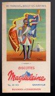 Granville (50 Manche) Buvard BISCOTTES MAGDELEINE  Drapeaux N°9 Napoléon III (PPP18082) - Zwieback