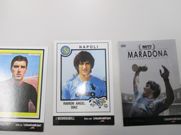 CALCIO Soccer Football Maradona Ramon Angel DIAZ Dino Zoff Promocard N.3 Cartoline Differenti - Soccer