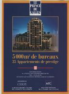 Publicité 1991 Le Prince De Galles Monte Carlo Bureaux Appartements Cerpi MTC - Publicités