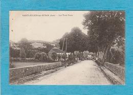Saint-Julien-sur-Suran. - Les Trois Ponts. - Homme à Vélo. - Autres Communes