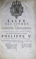 Titres De Noblesse Belge Au 18e Siècle - 1701-1800