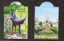 TIMBRES  FRANCAIS .  OBLITERATION RONDE...2008....  JARDINS DE FRANCE  N°4173/4174.  ...BE - France