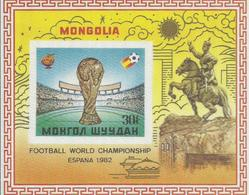 MONGOLIA  , HOJA BLOQUE MUNDIAL FUTBOL       MNH  ** - Copa Mundial
