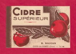 Etiquette De Cidre Ancienne R. NAJEAN à Coye La Forêt (Oise). - Etiquettes