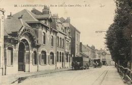 59 LAMBERSART - RUE DE LILLE - LE CANON D OR ( ATTELAGE  LIVRAISON BRASSEUR ) - Lambersart