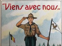 'VIENS AVEC NOUS - UN BONJOUR DU CAMP DE ...' SCOUT BELGIQUE CARTE POSTALE ILL. COULEURS - Belgique
