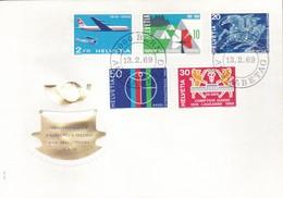 Svizzera - 1969 - Serie Di Propaganda + Aerea - Nn.828/831 + A46 - Busta FDC. - FDC