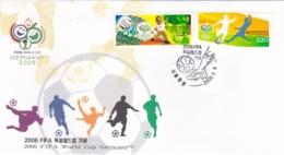 Korea FDC 2006 World Cup FIFA Football In Germany (DD13-40) - Copa Mundial