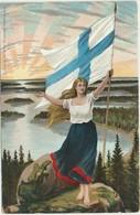 62-266-3 Suomi Finland Finnland Lippu Flag - Finland