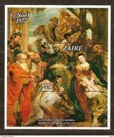 Zaire 1977  OBC N° Bloc Nr 24 *** MNH Cote 135 Euro Noël Kerstmis Christmas P-P Rubens - Zaire