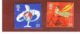 GRAN BRETAGNA.GREAT BRITAIN -  SG 2073.2074  -  1999 MILLENNIUM: TRAVELLERS' TALE   - USATI - 1952-.... (Elisabetta II)