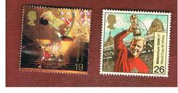 GRAN BRETAGNA.GREAT BRITAIN -  SG 2092.2093  -  1999 MILLENNIUM: ENTERTAINERS' TALE   - USATI - 1952-.... (Elisabetta II)
