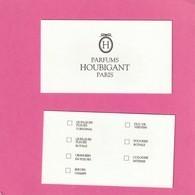 HOUBIGANT  Carte De Choix - Perfume Cards