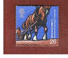 GRAN BRETAGNA.GREAT BRITAIN -  SG 2108  -  1999 MILLENNIUM: FARMERS' TALE   - USATI - 1952-.... (Elisabetta II)