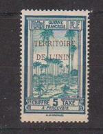 ININI         N°  YVERT  :   TAXE 1       NEUF AVEC  CHARNIERES      ( Ch 2/13  ) - Inini (1932-1947)