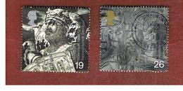 GRAN BRETAGNA.GREAT BRITAIN -  SG 2111.2112  -  1999 MILLENNIUM: SOLDIERS' TALE   - USATI - 1952-.... (Elisabetta II)