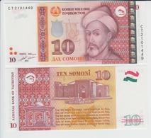 TAJIKISTAN 10 Somoni P 24 B 2017 UNC - Tadjikistan
