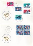 Svizzera - 1966 - 2 BUSTE ANNULLO MONDIALI DI PATTINAGGIO DI DAVOS 24/02/66.AFFRANCATURE VARIE. - FDC