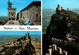 CPM - SAN MARINO - Saluti De ....(Timbres Au Dos) - Saint-Marin