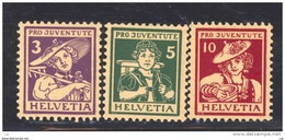 Suisse  -  1916  :  Yv  151-53  *                   ,        N2 - Nuevos